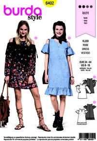 Burda pattern: Dress with bare shoulder