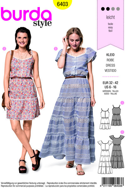 Dress with 2 lengths and waistband