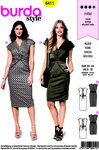 Burda 6411. Dress with crossbind in front.