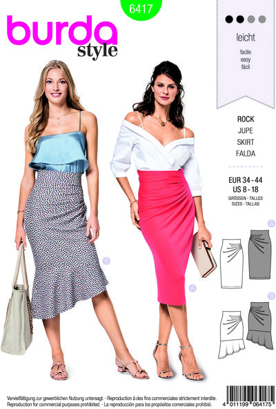 Close-fitting skirt