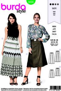 Burda pattern: Skirt with pleats