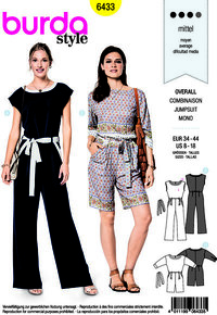 Burda 6433. Jumpsuit with waistband.