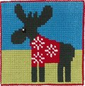 Moose, kids embroidery. 13,15