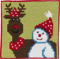 Reindeer and snowman, kids embroidery. 13,15