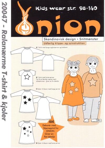 Raglan sleeve T-shirt and dresses