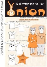 Onion 20047. Raglan sleeve T-shirt and dresses.