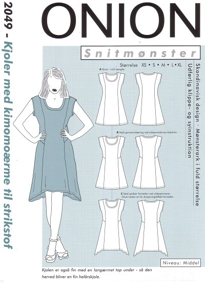 Dresses with kimono-sleeve for knits