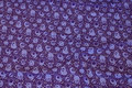 Purple cotton-jersey with small, 3 cm monsters