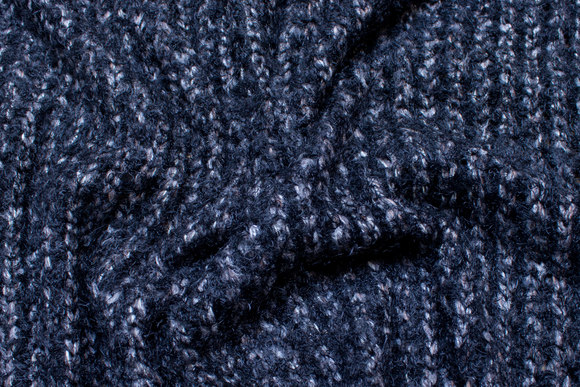 Loosely knitted, open knit in black and grey