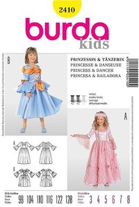 Princess, dancer. Burda 2410.