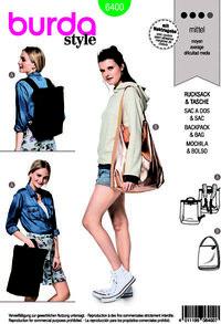 Rucksack and bag. Burda 6400.