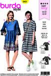 Burda 6401. Dress with waist, half length.