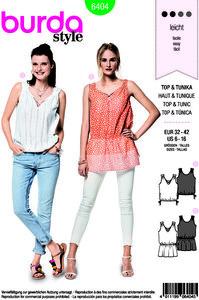 Top and tunic. Burda 6404.