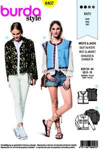 Vest and jacket. Burda 6407.