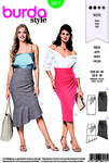 Burda 6417. Close-fitting skirt.