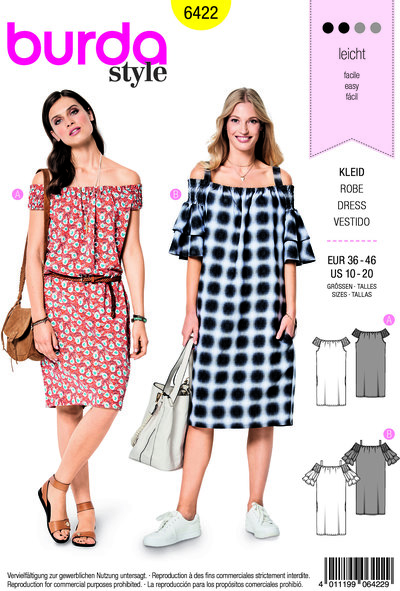 Dress, self-support or straps