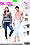 Burda 6428. Blouse with or without sleeves.