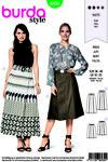 Burda 6430. Skirt with pleats.