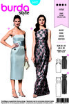 Burda 6441. Fiteed evening dresses.