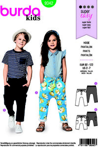 Pants with pockets. Burda 9342.