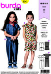 Burda 9343. Jumpsuit with and without sleeves, short and long.