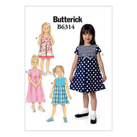 Top with sleeve frills. Butterick 6314.