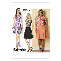 Bell shaped skirt. Butterick 6319.