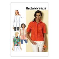 Side tie top. Butterick 6324.