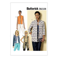 Top with boat neckline. Butterick 6328.