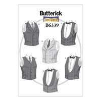 Dress with waistband. Butterick 6339.