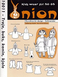 Shirt, pants, rabbit, dress. Onion 10011.