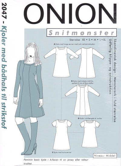 Dresses with boat-neck