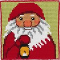 Permin 9242. Santa Claus with lamp, kids embroidery.