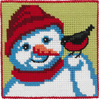 Snowman, kids embroidery. Permin 9243.