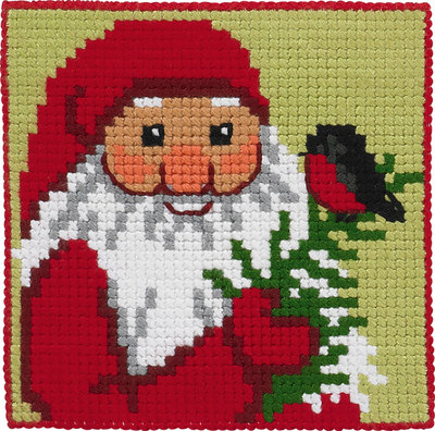 Santa Claus with twig, kids embroidery