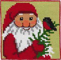 Santa Claus with twig, kids embroidery. Permin 9244.