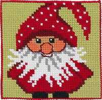 Santa Claus, kids embroidery. Permin 9245.