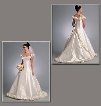 Wedding Dress - Bellville Sassoon. Vogue 1095.
