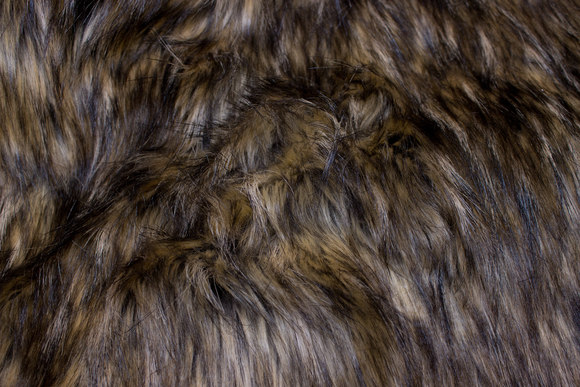 Beautiful longhaired faux fur in brown colors