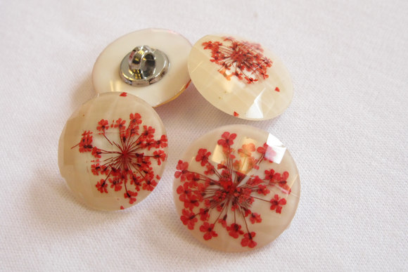Beautifull flower bottons 2.3 cm
