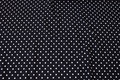 Black cotton-jersey with 8 mm white dots