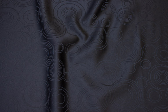 Black jacquard-woven table-cloth-fabric