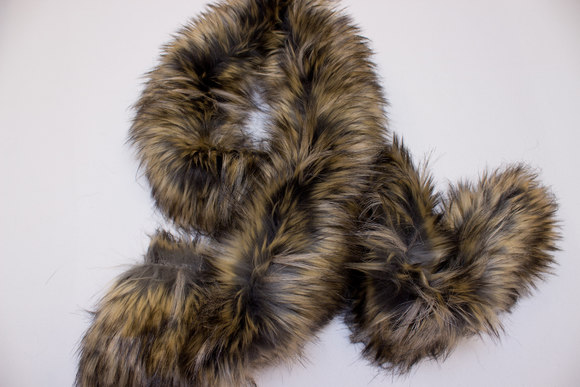 Brown fake fur pieces for collars and more