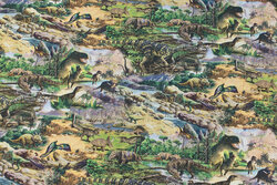 Cotton-poplin with dinosaurs