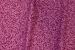 Dark pink patchwork-cotton with small branch-pattern
