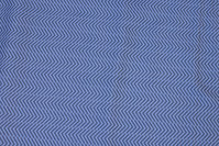 Dove-blue patchwork-cotton with zig-zag pattern
