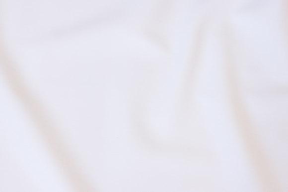 Lightweight, white cotton-twill
