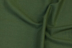 Linen and viscose in moss-green