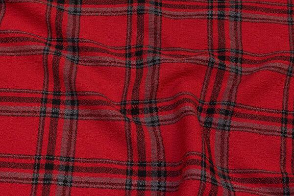 Medium-thickness dress crepe with ca. 10 cm checks