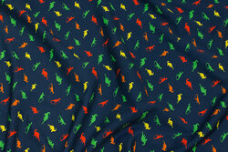 Navy cotton-jersey with colorful mini-dinos